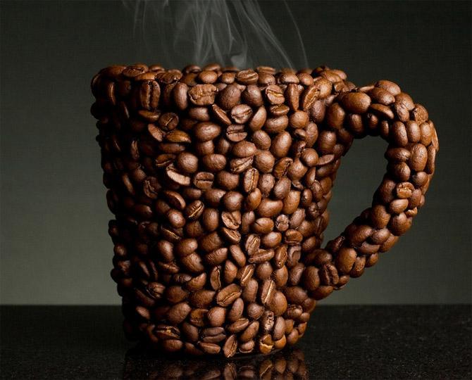 عکس خاص و هنری لیوان قهوه داغ