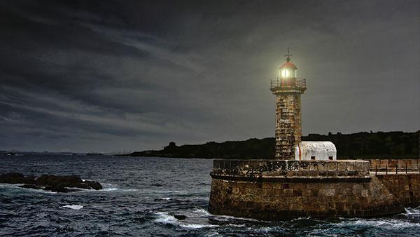 عکس زیبا و رویایی فانوس دریایی