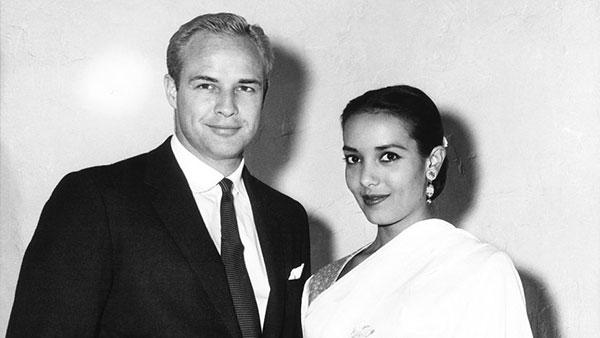 مارلون براندو و همسرش آنا کاشفی