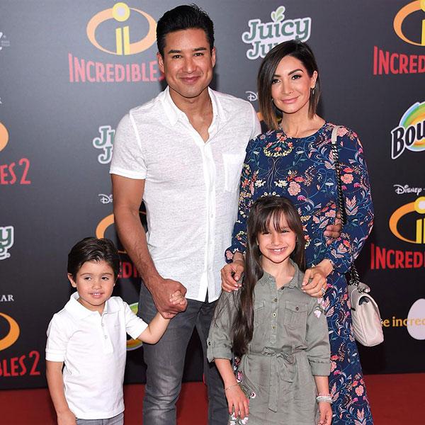 ماریو لوپز و همسر و فرزندانش