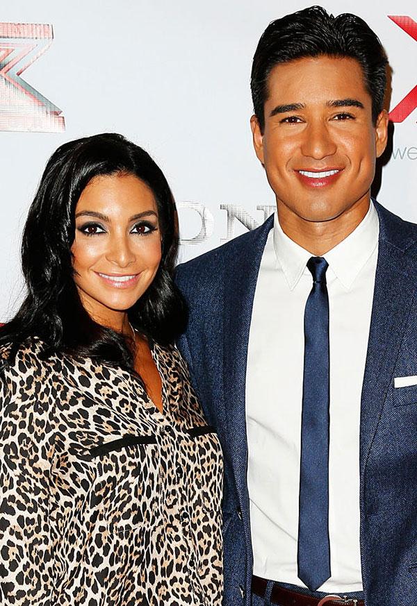 ماریو لوپز و همسرش کورتنی مازا