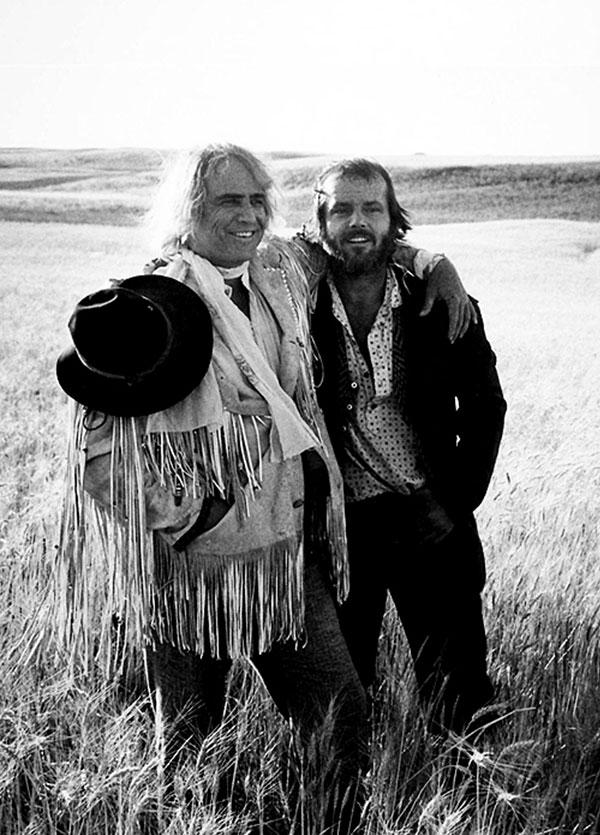 جک نیکلسون و مارلون براندو