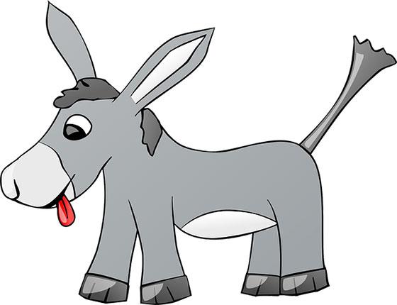 عکس کارتونی حیوانات اهلی : الاغ بامزه