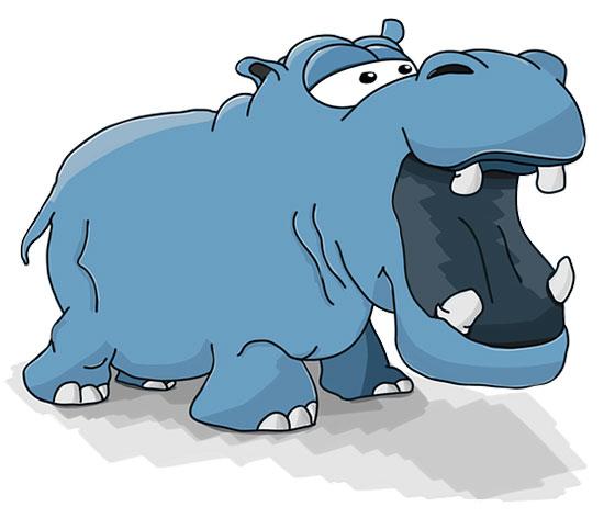 عکس حیوانات بامزه : اسب آبی کارتونی