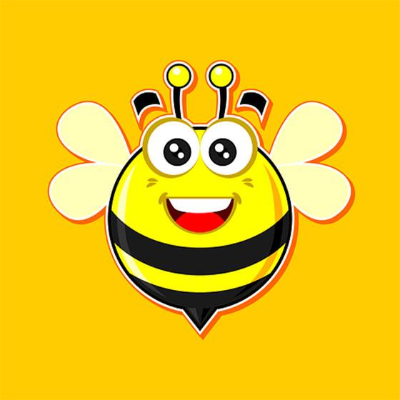 عکس زنبور عسل کارتونی و بامزه