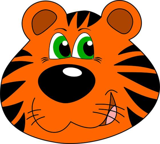 عکس کارتونی حیوانات جنگل : ببر