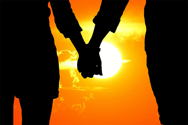 عکس طلوع و غروب عاشقانه خورشید