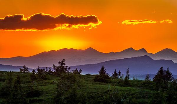 عکس طلوع زیبا و دیدنی خورشید در طبیعت