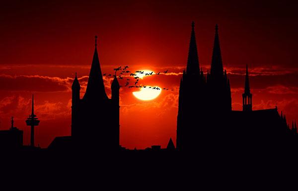 عکس ترسناک غروب خورشید
