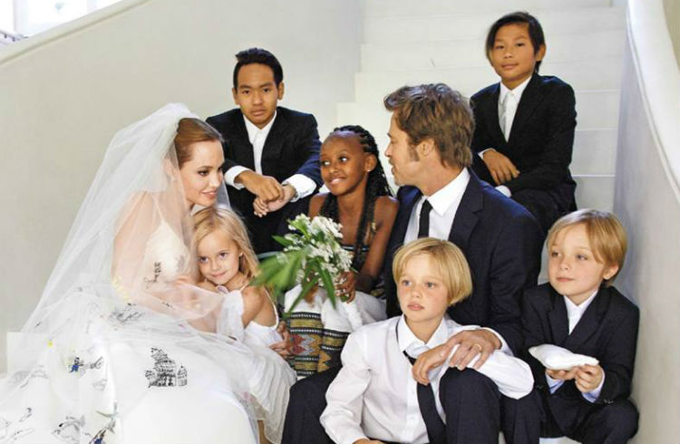 عکس عروسی برد پیت و آنجلینا جولی