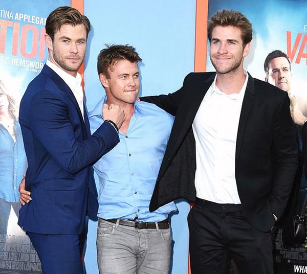 کریس همسورث و برادرانش لوک و لیام