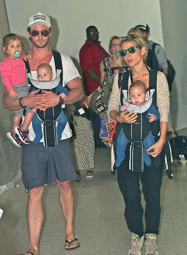 کریس همسورث و فرزندانش