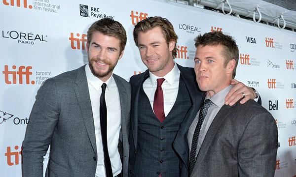 لیام همسورث و برادرانش لوک و کریس