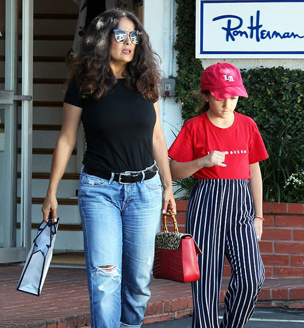 سلما هایک و دخترش والنتینا
