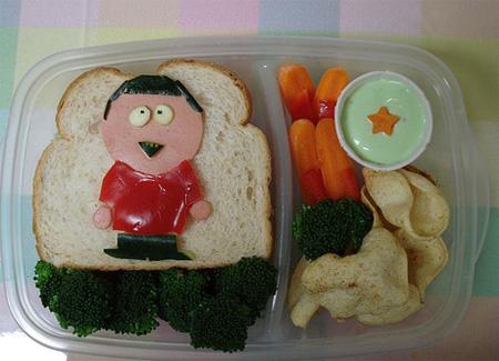 تزیین نان تست برای کودکان