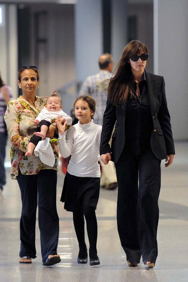 مونیکا بلوچی و دخترانش
