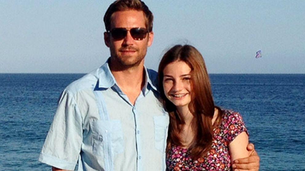عکس پل واکر و دخترش