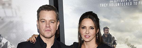 مت دیمون و همسرش لوسیانا باروسو