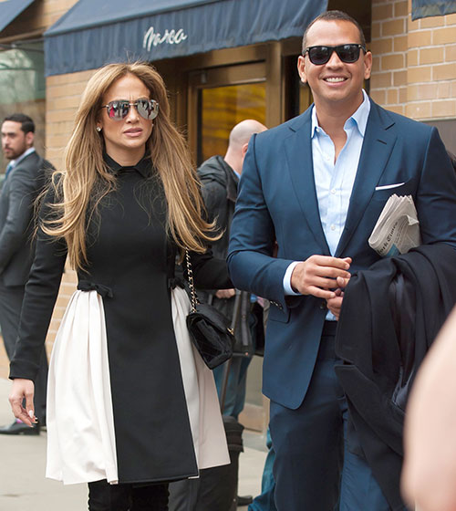 جنیفر لوپز و نامزدش الکس رودریگز