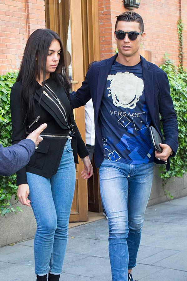 کریستیانو رونالدو و همسرش