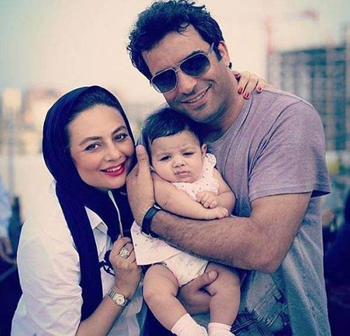 یکتا ناصر و همسر و دخترش