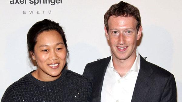 مارک زاکربرگ و همسرش پریسیلا چان
