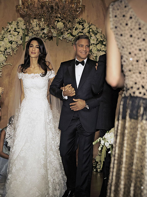 عکس عروسی جرج کلونی و همسرش
