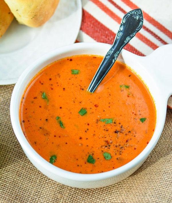 طرز تهیه سوپ گوجه فرنگی هندی
