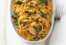 طرز تهیه اسپاگتی سبزیجات