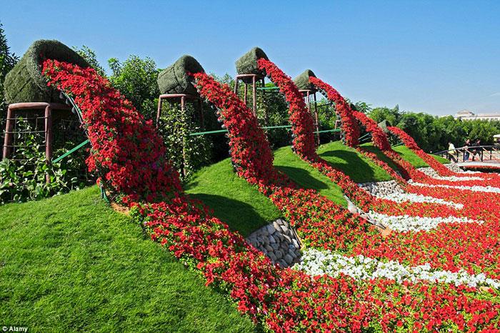 این باغ جادویی بیش از چهل و پنج گونه مختلف گیاه گلدار را با ترکیبی از رنگ های متنوع و چشم نواز در دل خود جای داده است.