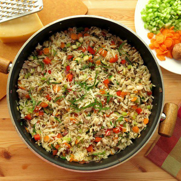 طرز تهیه پلو مخلوط سبزیجات