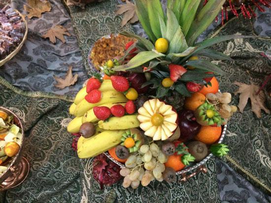 چیدمان میوه های شب یلدا
