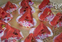 روش درست کردن شکلات هندوانه ای برای شب یلدا