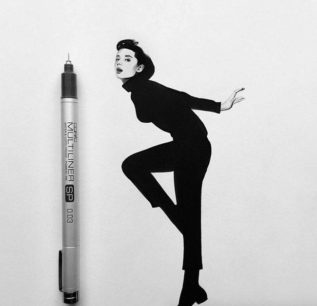نقاشی های زیبای سیاه و سفید