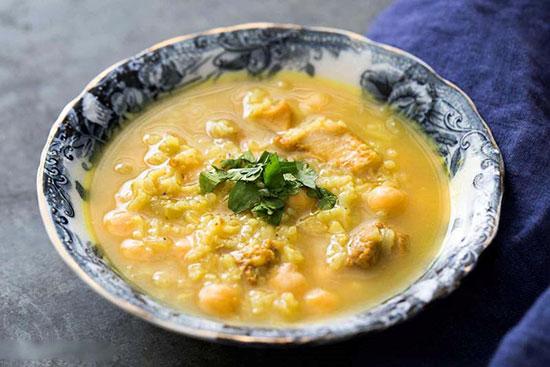 سوپ نخود و کرفس