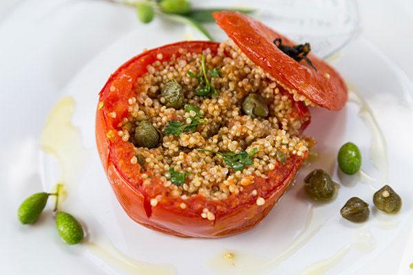 تزیین دلمه گوجه فرنگی