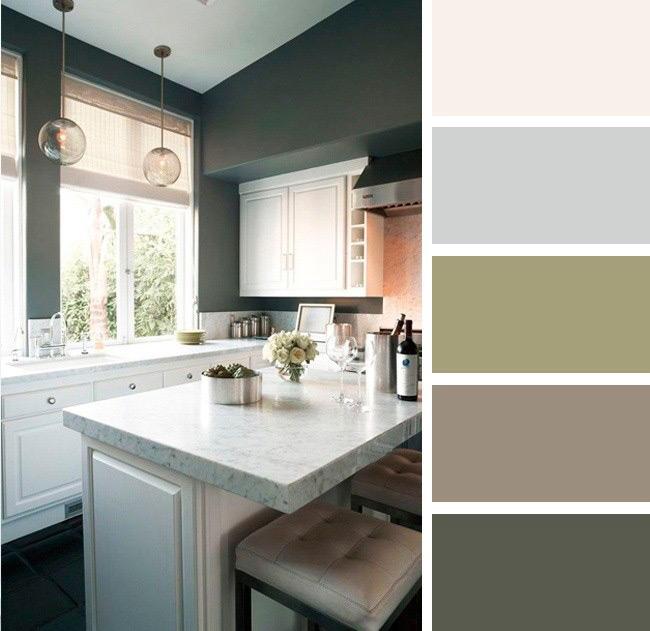 ست رنگ دکوراسیون آشپزخانه