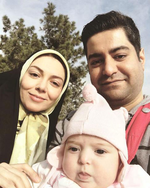 آزاده نامداری و همسر و دخترش گندم , سجاد عبادی