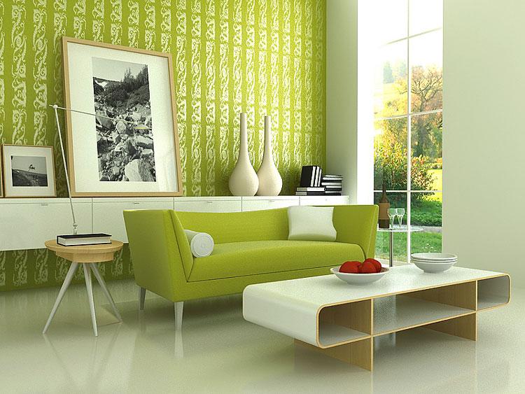 انواع مدل دکوراسیون منزل به رنگ سبز