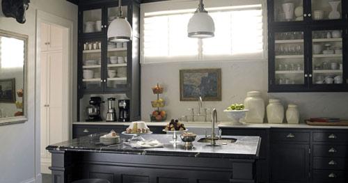 رنگ دکوراسیون آشپزخانه:رنگ شکلاتی تیره