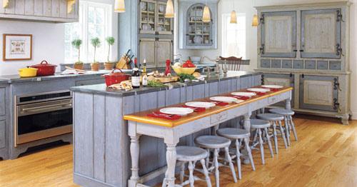 رنگ دکوراسیون آشپزخانه:آبی فریبنده