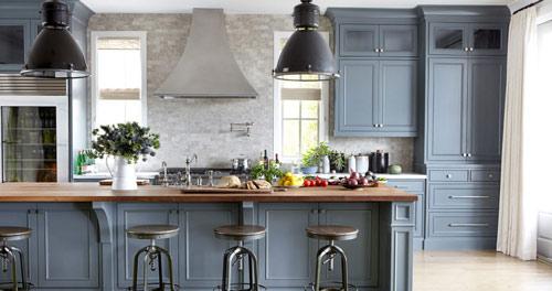 رنگ دکوراسیون آشپزخانه:خاکستری مایل به آبی