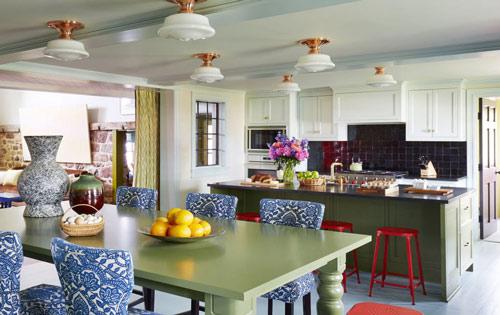 رنگ دکوراسیون آشپزخانه:سبز ساکسون