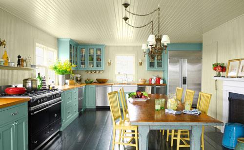 رنگ دکوراسیون آشپزخانه:سبزآبی