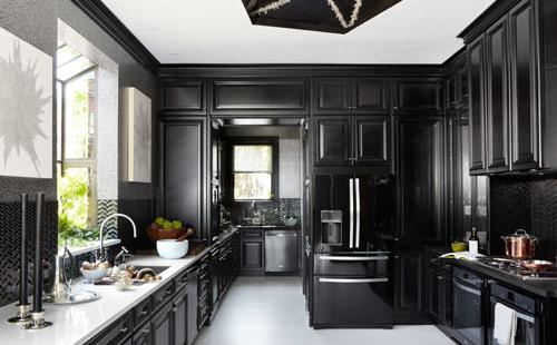 رنگ دکوراسیون آشپزخانه:مشکی