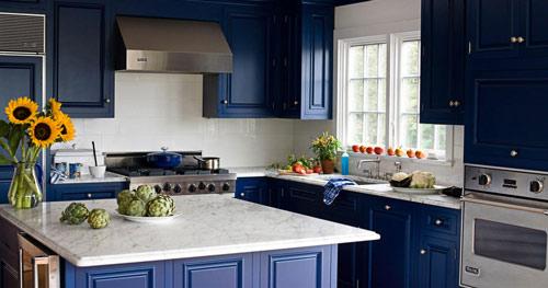 رنگ دکوراسیون آشپزخانه:آبی تیره