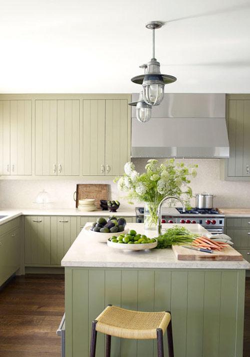 رنگ دکوراسیون آشپزخانه:سبز کوهستانی