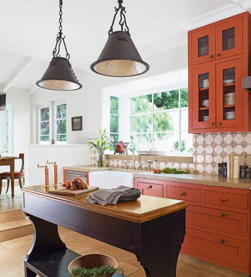 رنگ دکوراسیون آشپزخانه:نارنجی