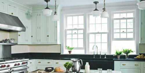 رنگ دکوراسیون آشپزخانه:سبز