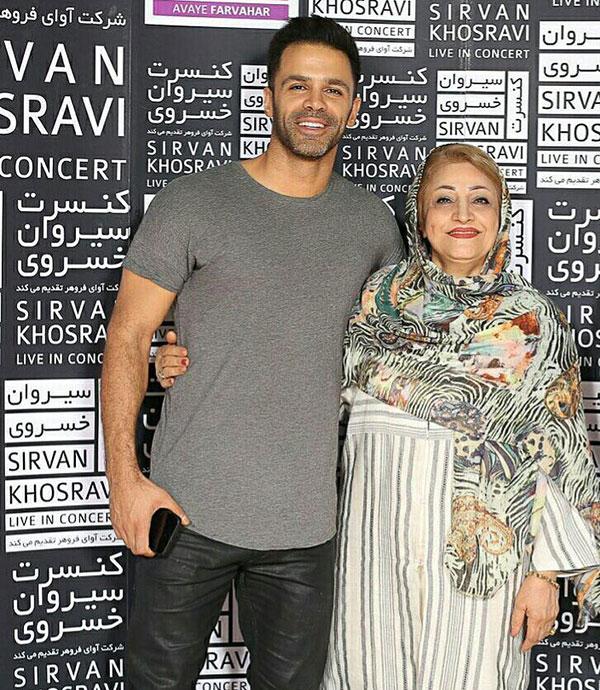 سیروان خسروی و مادرش
